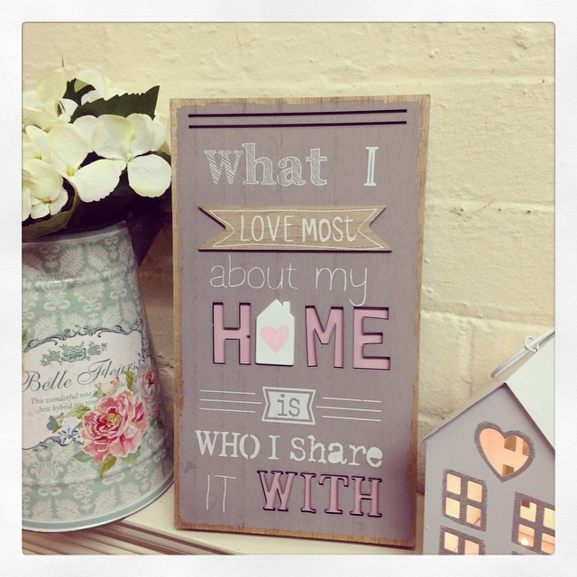 Shabby Chic 3D Style Wooden Sign What I Love Most About My Home