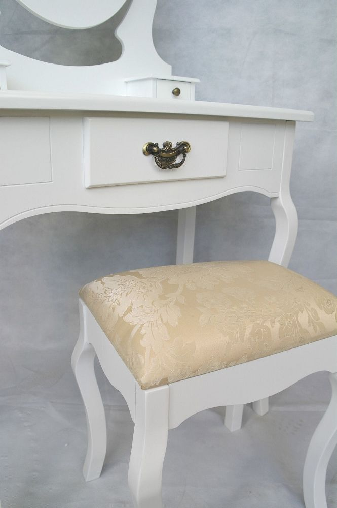 shabby chic dressing table stool. Black Bedroom Furniture Sets. Home Design Ideas