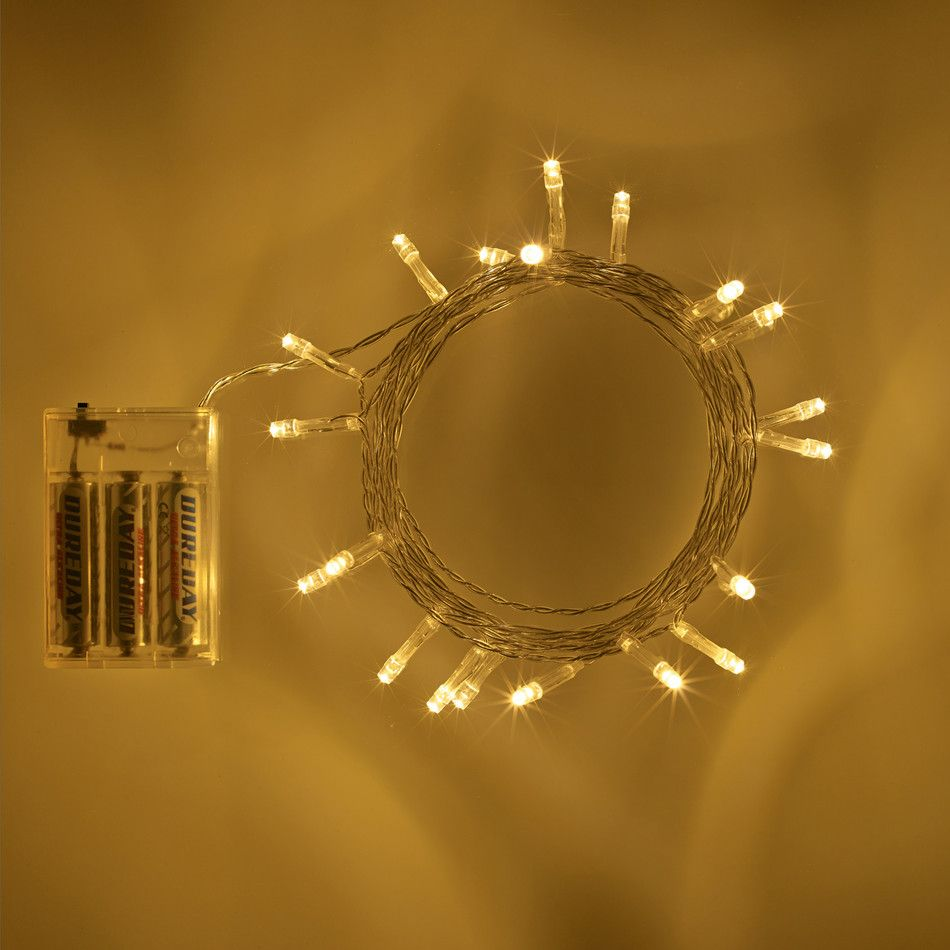 best authentic 6048f 053a2 20 LED Warm White Battery Operated Fairy Lights