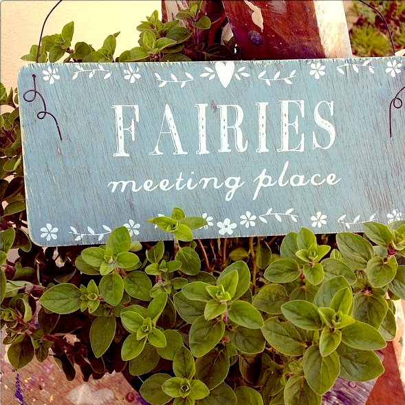 20% OFF Fairies meeting Place Hanging Sign
