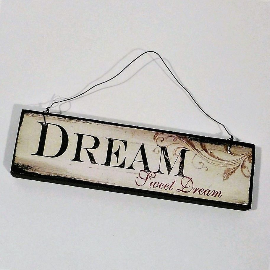 40 Off Small Hanging Wooden Sign Dream Sweet Dream