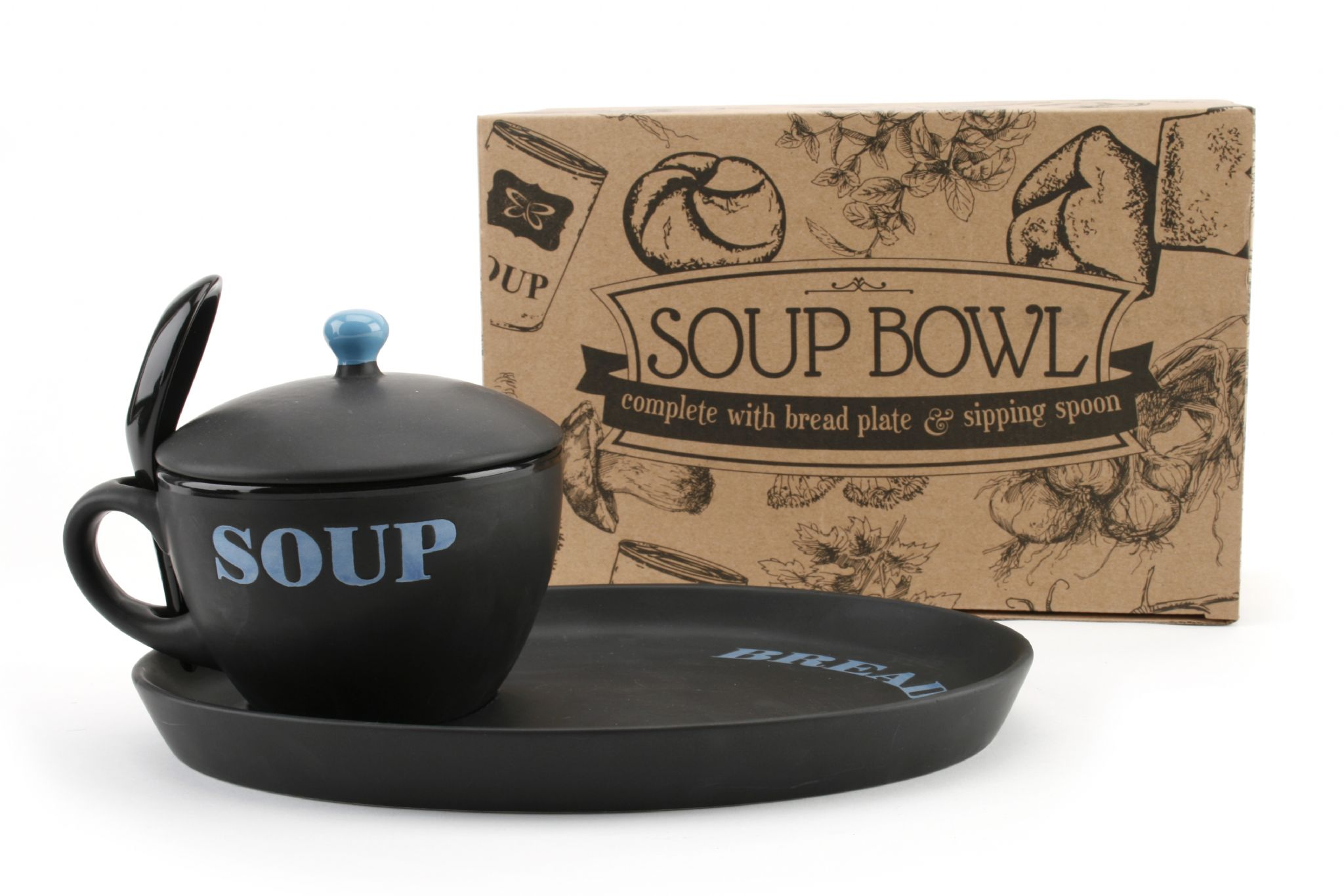40 Off Soup Bowl Plate Amp Sipping Spoon Set