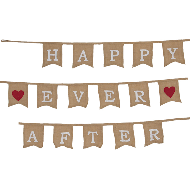 50% off Happy Ever After Jute Bunting