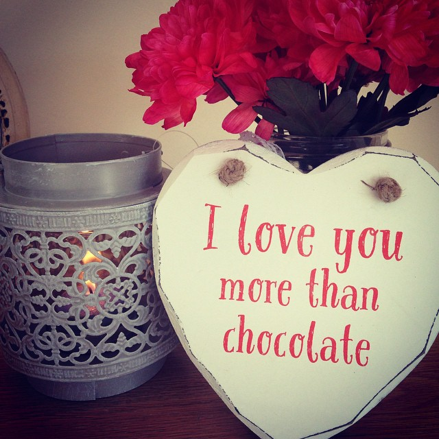 50% off I Love you More than Chocolate Heart Plaque