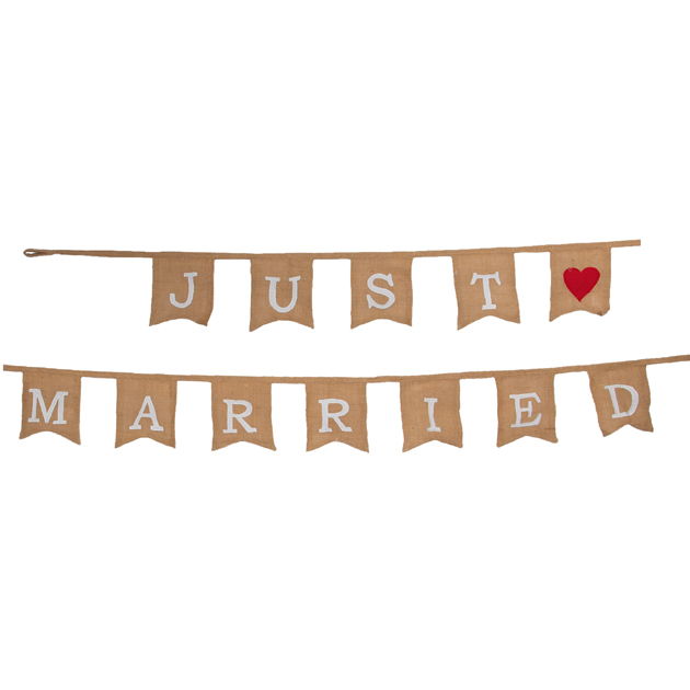 50% OFF Just Married Jute Bunting