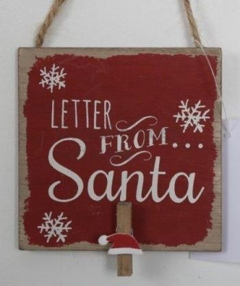50% OFF Letter From Santa Peg Sign