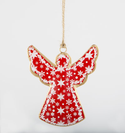 50% OFF Small Hanging Tin Snowflake Angel