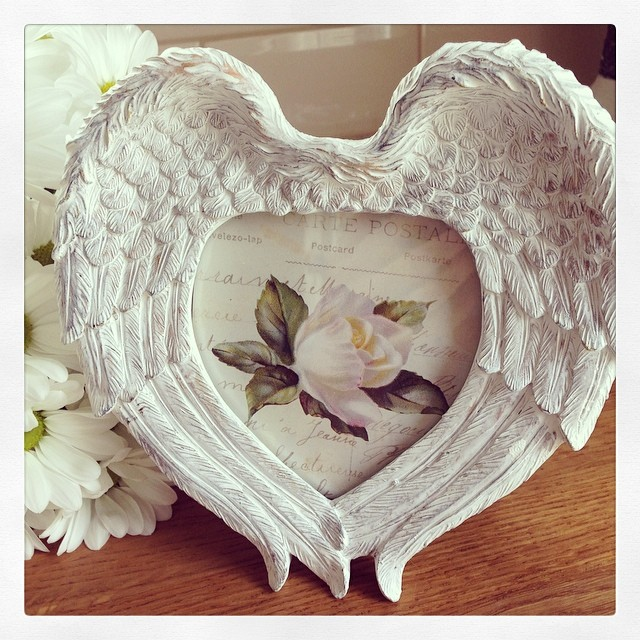 Angel Wings Whitewash Photo Frame