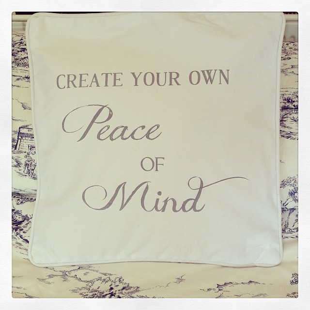 Create Your Own Peace Of Mind White Cushion Cover