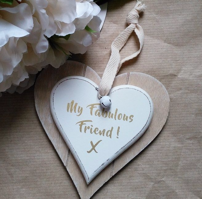 Double Heart Fabulous Friend Hanging Decoration