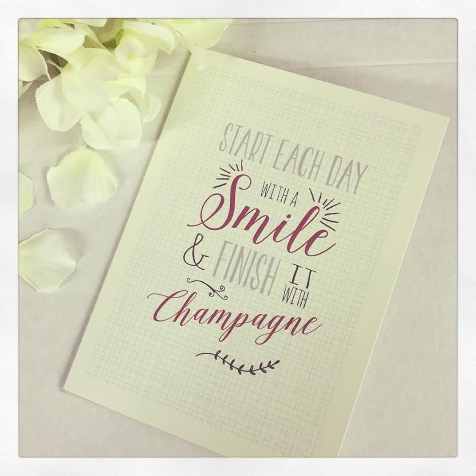 East Of India Card Start Each Day With A Smile Champagne