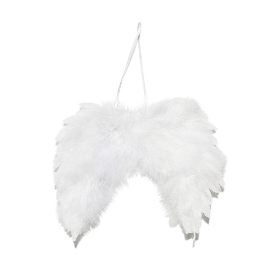 Fluffy Hanging White Angel Wings