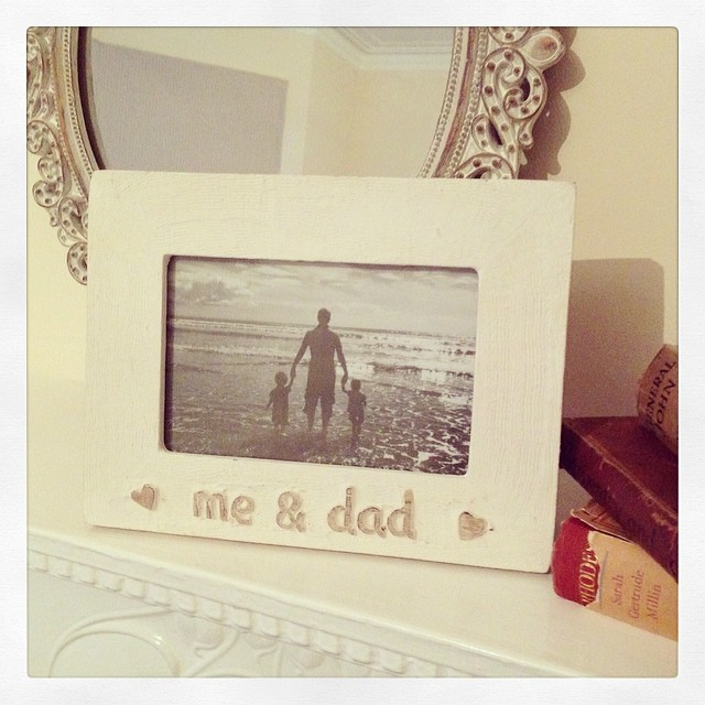 Gorgeous Wooden frame- Me & Dad