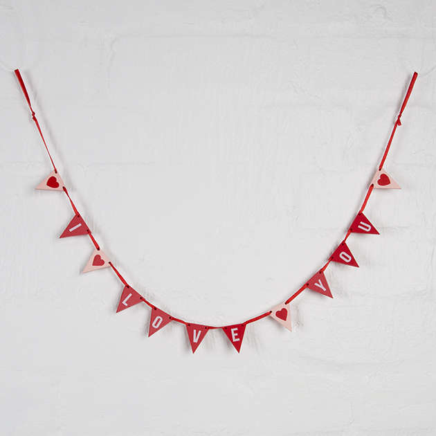 I Love You Mini Bunting Garland