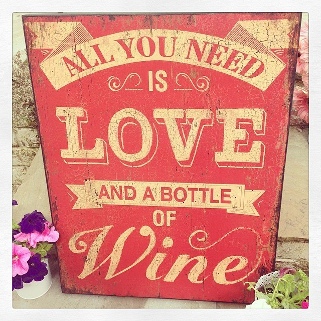 Large Vintage Wooden Sign All You Need Is Love And A