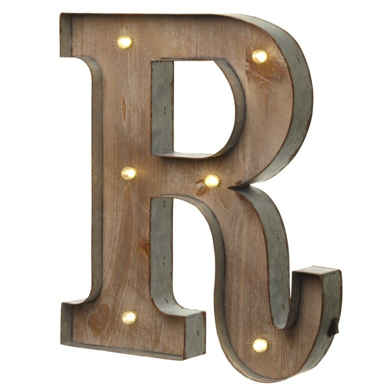 led light up wood metal carnival letter r. Black Bedroom Furniture Sets. Home Design Ideas