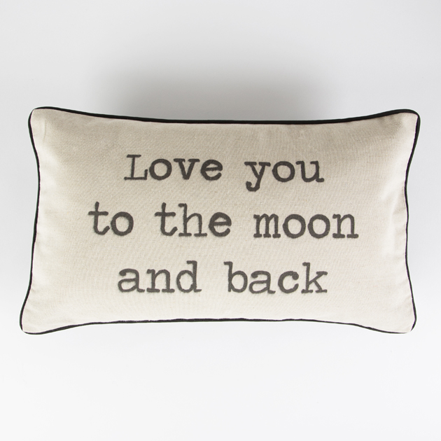 Love You To The Moon And Back Rustic Cushion