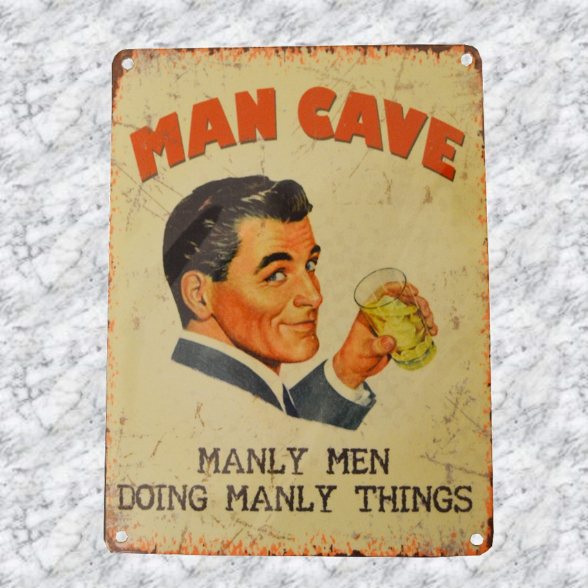 Man Cave Vintage Signs : Man cave retro sign