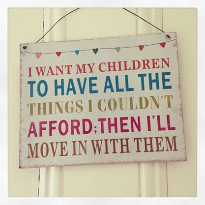 Metal Hanging Sign - I Want My Children