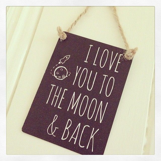 Mini Hanging Metal Sign- I Love You To The Moon & Back