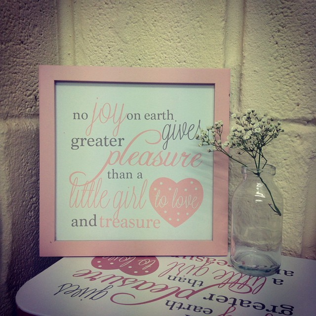 Over 40% OFF Baby Poem framed Wall Plaque In Pink