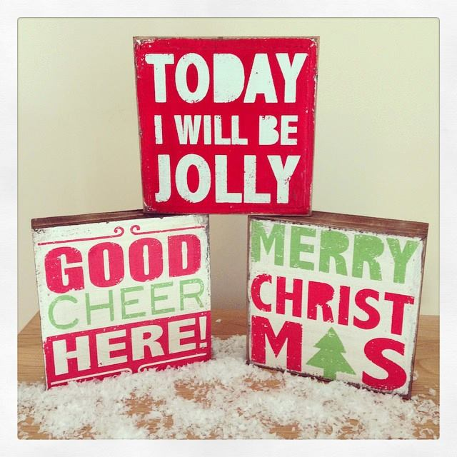 Over 60% off Chunky Wooden Block Christmas Signs
