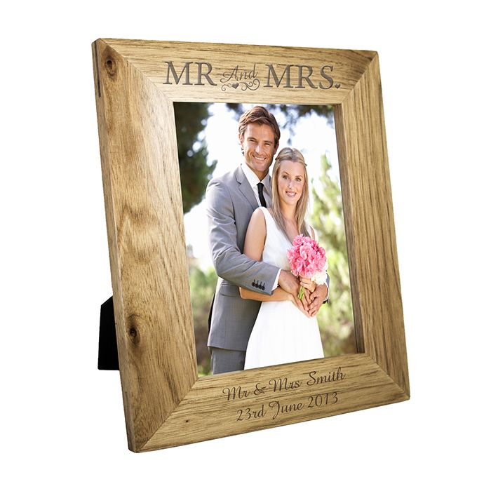 Personalised 5x7 Mr Mrs Wooden Frame