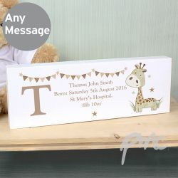 Personalised Hessian Giraffe Mantel Block