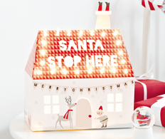 Santa Stop Here Light Up House