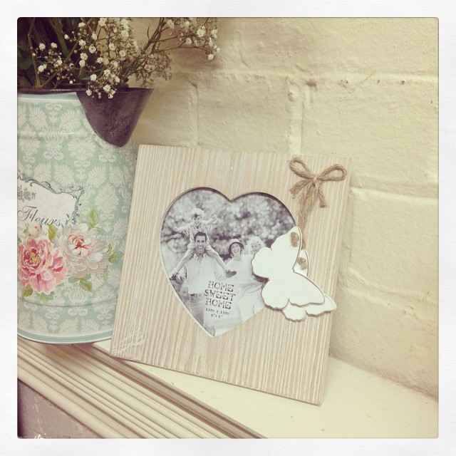 Shabby Chic Natural Wooden Butterfly Frame